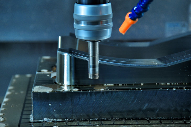 CNC machining with surface finish
